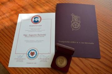 Ocenenie od Evanjelíckej cirkvi a.v.